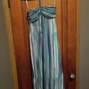 Lauren Conrad Strapless, Watercolor Dress